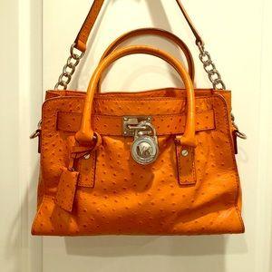 Orange Michael Kors shoulder bag